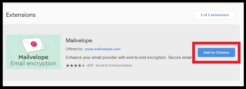 Password Protect Email,EXTENSION, ADD TO CHROME