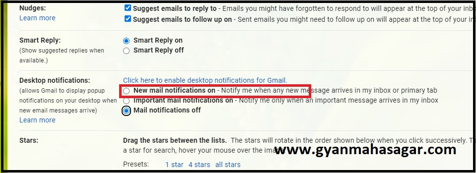 Get Gmail Notifications