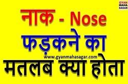 नाक फड़कने का मतलब,Nak Fadakne ka Matlab,नाक फड़कने का मतलब क्या होता है,नाक फड़कने का मतलब बताइए,nak fadakna in hindi,naak ka fadakna in hindi,bayi nak fadakna,daya nak fadakna