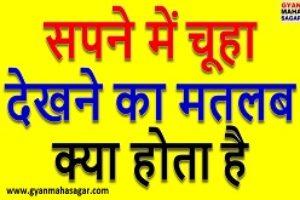 सपने में चूहा देखना sapne me chuha dekhna in hindi