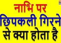 Nabhi Par Chipkali Girna, nabhi par chipkali girne ka matlab, नाभि पर छिपकली गिरना, नाभि पर छिपकली गिरने से क्या होता है