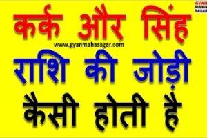 Kark aur Singh Rashi ki Jodi ! कर्क और सिंह राशि की जोड़ी